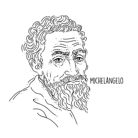 Michelangelo Line Art Portrait 向量圖像