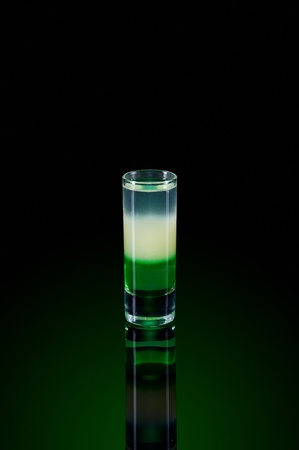 Layered cocktail shooter, shot drinks photo
