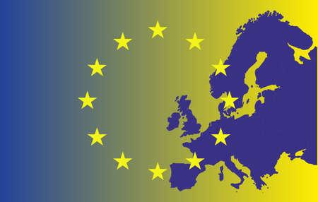 eu: EU map with stars Illustration