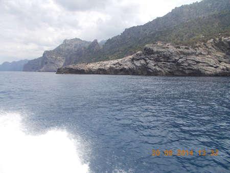 mallorca: Rocks on the water in Mallorca Stock Photo