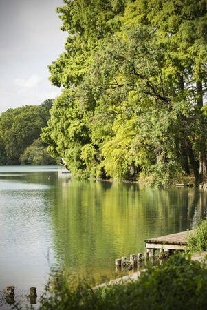 pontoon: Pontoon on lake