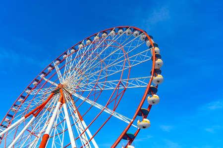 Ferris Wheel against Blue Sky in Black Sea