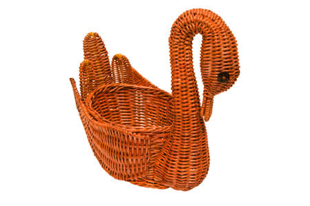 interleaved: Basket in form of swan.