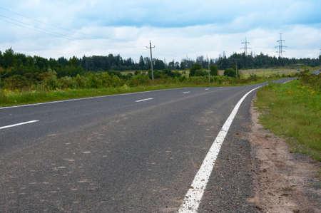 suburbs: asphalted roads in the suburbs