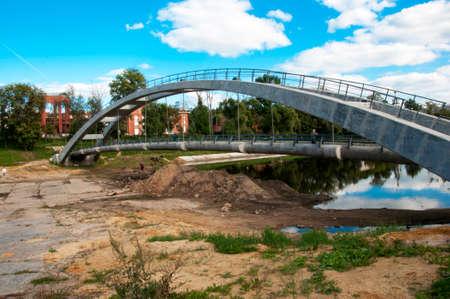 construction of a bridge across the pond