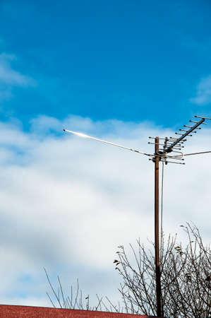 Antenna on Sky. Television antenna. TV antenna