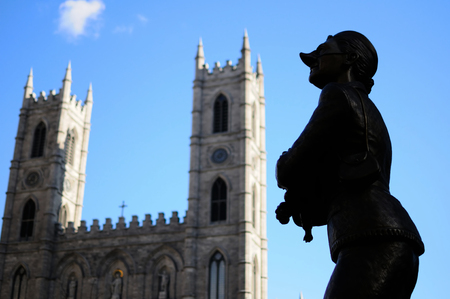 donna: Notre dame Montreal Stock Photo
