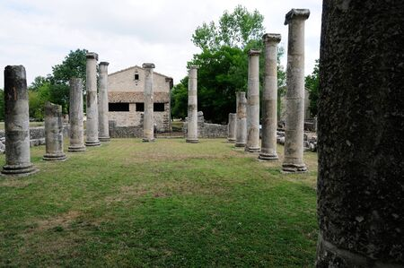 archaeological: Archaeological site of altilia sepino Stock Photo