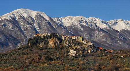 Castel San Vincenzo small village of Molise Stock Photo