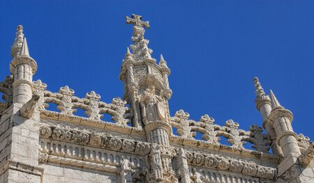 The Jerónimos monastery is located in the Belém district in the city of Lisbon. Made in Manueline style on a project by architect Diogo de Boitaca, April 2010