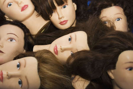 Mannequins heads Stock Photo