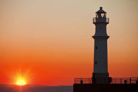 Lighthouse at sunset  in Edinburgh, Scotland Stock Photo - 14999565