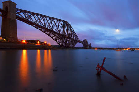 The Forth Rail Bridge crossing between Fife and Edinburgh, Scotland photo