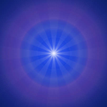 center position: Blue sky with glaring sun  Square crop center position Stock Photo