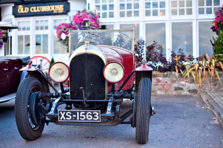 GULLANE, SCOTLAND - SEPTEMBER 5, 2013: Bentley Speed Six was sports and luxury car based on Bentley rolling chassis in production from 1928 to 1930. It  was a more sporting version of the Bentley 6½ Litre and became the most successful racing Bentley.