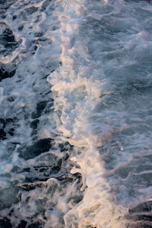 turbulent: Sea water turbulent foam splash Stock Photo