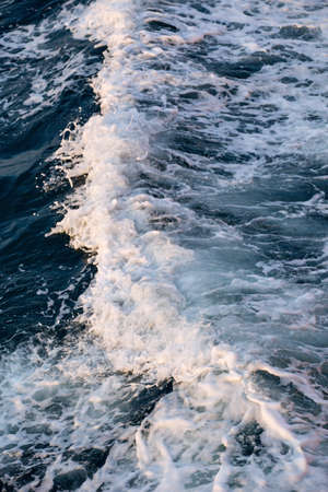 furrow: Sea water turbulent foam splash Stock Photo