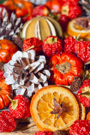 heap: Heap of Traditional Christmas aromatic dry fruits