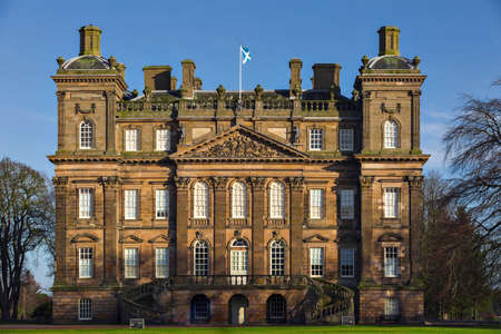 Banff house is a magnificent mansion built between 1735 and 1740 as the seat of the Earls of Fife.  Stock Photo