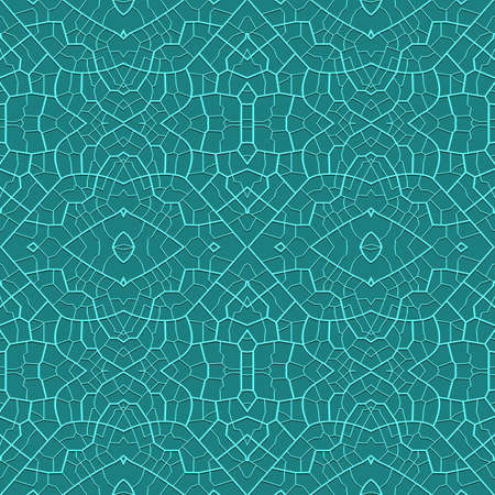 Abstract ornate grid seamless pattern  Vector  Illustration