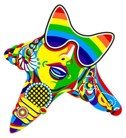 pop culture: Pop star print  Vector