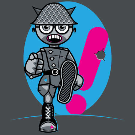 The Marching Fearless Soldier  Vector