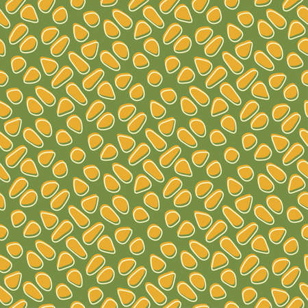 Retro styled corn print  Seamless pattern  Vector