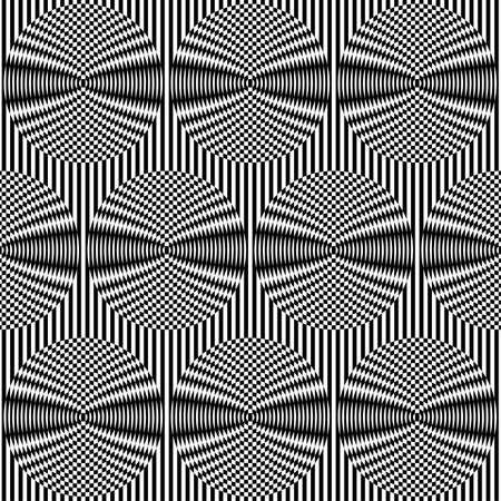 Optical art background  Seamless pattern  Vector