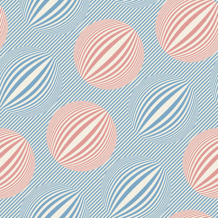 Striped bubbles print  Seamless pattern  Vector  Vector