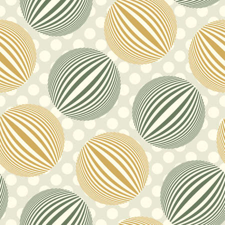Striped bubbles polka dot  Seamless pattern  Vector