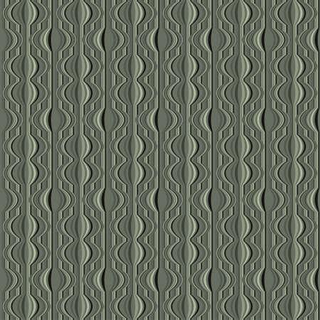 Ornate striped retro wallpaper  Seamless pattern  Vector Stock Vector - 19867770