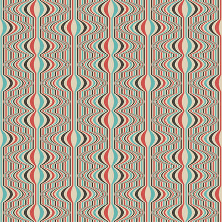 Shift striped ornament  Seamless pattern  Vector  Stock Vector - 19867733