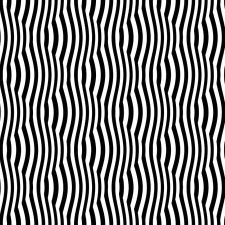 Black and white striped grid optical illusion  Seamless pattern  Vector  Illustration