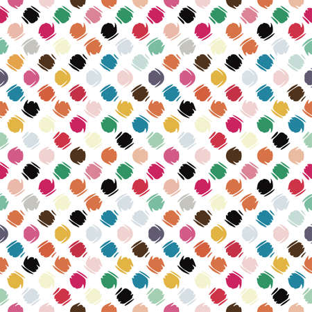 Colorful refracted polka dot  Seamless pattern  Vector