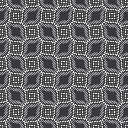 Dotted textured reptile grid ornament  Seamless pattern  Vector