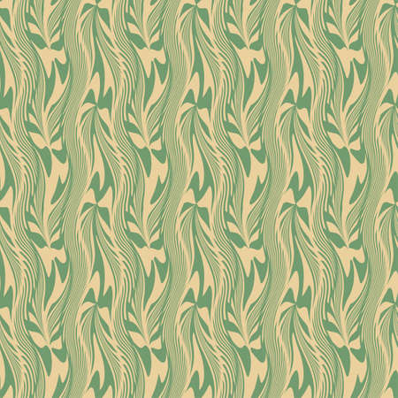 Abstract decorative wavy plants print  Seamless pattern  Vector  Illustration