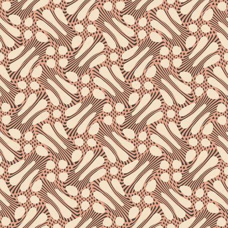 brown: Petals print  Seamless pattern  Vector