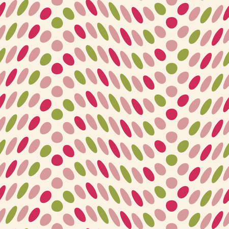 Altered polka dot seamless pattern  Vector  Illustration