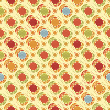 Happy dots Seamless pattern Vector