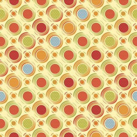 Happy dots Seamless pattern Vector Vector Illustration
