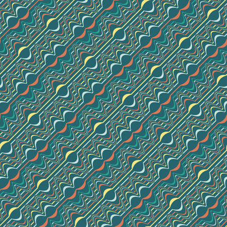 Decorative shift striped background  Seamless pattern Stock Vector - 20067253