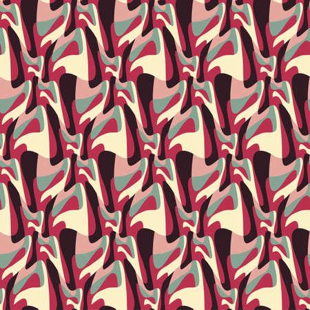 Abstract decorative geometric metamorphosis print  Seamless pattern   Illustration