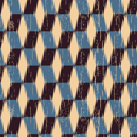 refracted: Abstract decorative old textured refracted rhombus background  Seamless pattern