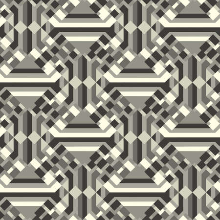 Abstract decorative geometric textured background  Seamless pattern