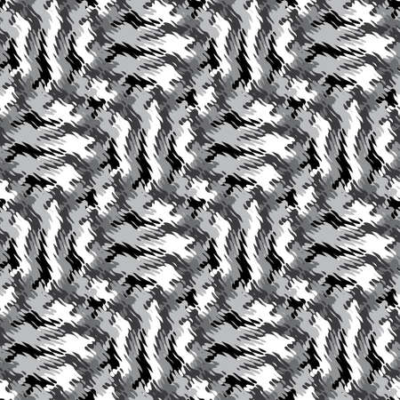 refracted: Abstract decorative wavy striped refracted texture  Seamless pattern