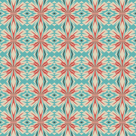 Abstract decorative floral geometric ornament  Seamless pattern