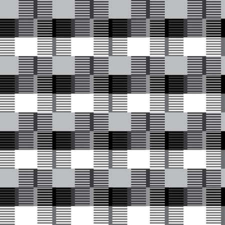 Abstract black and white geometric texture  Seamless pattern  Vector  Illustration