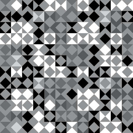 Abstract decorative black and white geometric textured background  Seamless pattern