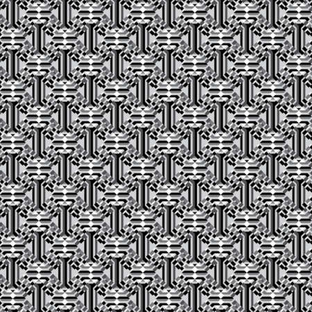 Abstract black and white geometric texture  Seamless pattern Illustration