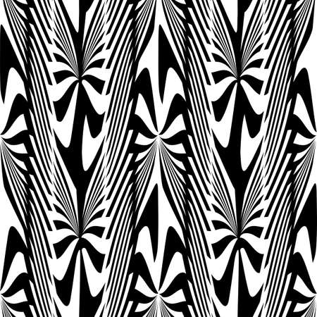 Abstract decorative zebra plants ornament  Seamless pattern